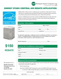 Photo of an air conditioner rebate application